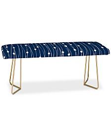 Deny Designs Heather Dutton Navy Entangled Bench