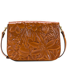 Patricia Nash Deep Embossed Flap Crossbody