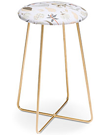 Deny Designs Iveta Abolina Ethel Garden Counter Stool