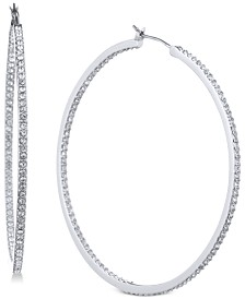 "Givenchy Pavé 2"" Hoop Earrings"