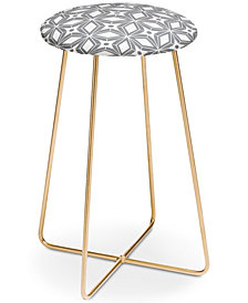 Deny Designs Heather Dutton Starbust Grey Counter Stool