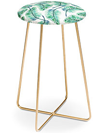Deny Designs 83 Oranges Palms Watercolor Counter Stool