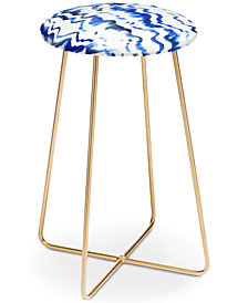 Deny Designs Schatzi Brown Blue Water Counter Stool