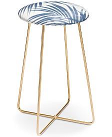 Deny Designs Emanuela Carratoni Serenity Palms Counter Stool