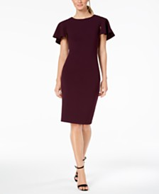 Calvin Klein Petite Capelet Sheath Dress