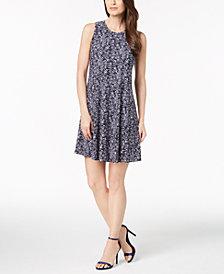 Anne Klein Greenwich Tartan Sleeveless Dress