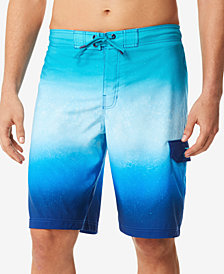 Speedo Men's Spray Blend Ombré E-Board 9.5'' Swim Trunks