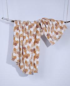 "Berkshire Tonal Honeycomb-Print 50"" x 60"" Plush Throw"