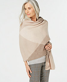 Charter Club Pure Cashmere Argyle Oversized Scarf, Created for Macy's