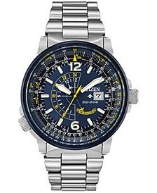 Eco-Drive Men's Angel Nighthawk Stainless Steel Bracelet Watch 42mm