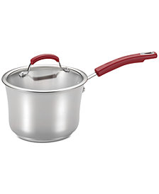 Rachael Ray Classic Brights Stainless Steel 3.5-Qt. Saucepan & Lid