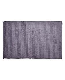 """Mercer Cotton Textured Stripe 22"""" x 34"""" Bath Rug"""