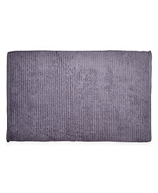 "DKNY Mercer Cotton Textured Stripe 22"" x 34"" Bath Rug"