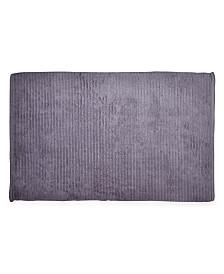 "DKNY Mercer Cotton Textured Stripe 22"" x 34"" Bath Rug"