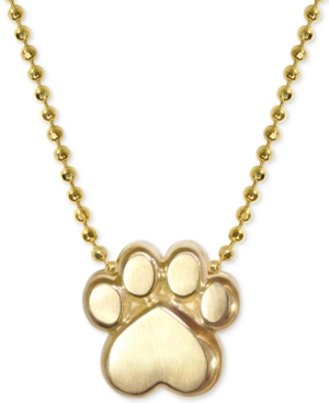 "Image of Alex Woo Activist's Paw 16"" Pendant Necklace in 14k Gold"