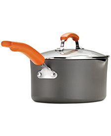 Rachael Ray Hard-Anodized Non-Stick 3-Qt.  Saucepan & Lid
