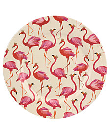 Portmeirion Sara Miller Flamingo Melamine 11'' Dinner Plates, Set of 4