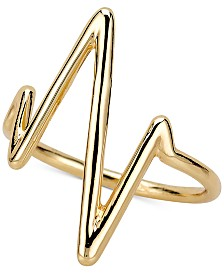 Heartbeat Ring in Sterling Silver or 14K Gold-Plated Sterling Silver