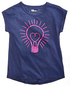 Epic Threads Big Girls Lightbulb T-Shirt, Created for Macy's