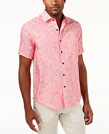 Tasso Elba Men's Marcus Paisley Button Down Shirt, Created for Macy's
