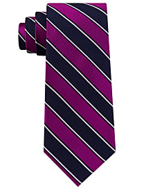 Club Room Men's Texture Stripe Silk Tie, Created for Macy's