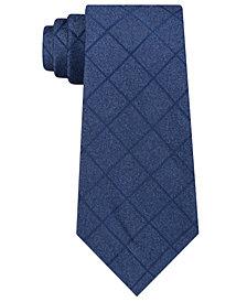 Michael Kors Men's Unsolid Solid Grid Silk Tie