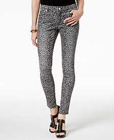 MICHAEL Michael Kors Animal-Print Skinny Jeans, Regular & Petite