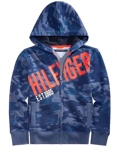 8a569177 Tommy Hilfiger Toddler Boys Camo Graphic-Print Full-Zip Hooded Sweatshirt