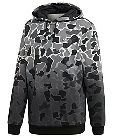 adidas Men's Originals Camo-Print Dip-Dyed Fleece Hoodie