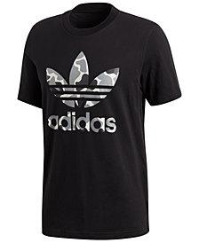 adidas Men's Originals Camo-Print Treifoil T-Shirt