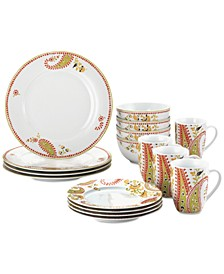 Paisley 16-Pc. Dinnerware Set, Service for 4