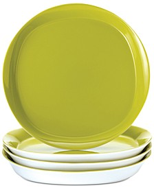 Round & Square Green Set of 4 Dinner Plates
