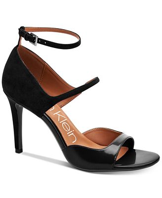Calvin Klein Collection Embossed Suede Sandals