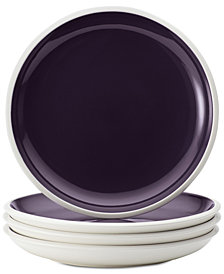 Rachael Ray Rise Purple Set of 4 Salad Plates