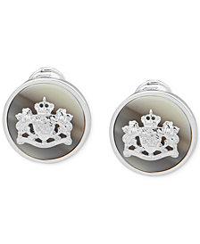 Lauren Ralph Lauren Silver-Tone Crest & Horn-Look Clip-On Stud Earrings