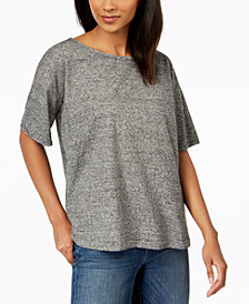 Eileen Fisher Hemp Organic Cotton Short-Sleeve Top