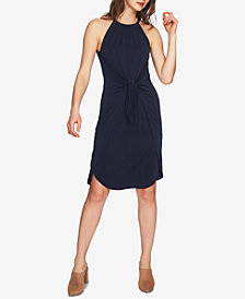 1.STATE Tie-Front Halter Dress