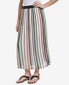 NY Collection Pleated Midi Skirt