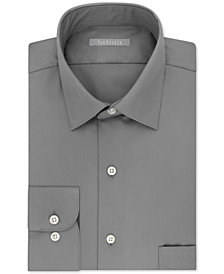 Van Heusen Men's Classic/Regular Fit Lux Sateen Solid Dress Shirt