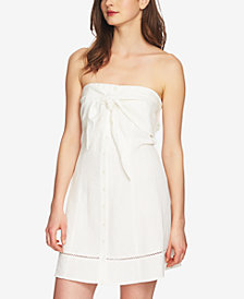 1.STATE Strapless Tie-Front Dress