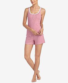 Lauren Ralph Lauren Cotton Striped Pajama Shorts Set