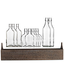 Home Essentials Glass Bottles on Wood Tray 11-Pc. Tablescape