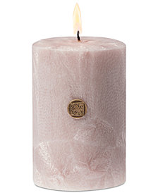 "Aromatique Santalum Blooms 3"" Feather Pillar Candle"