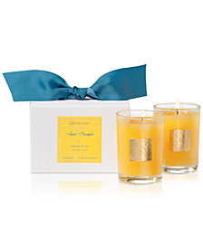Aromatique Agave Pineapple Boxed Votive Candles, Set of 2