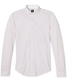 BOSS Men's Slim-Fit Pique Cotton Sport Shirt
