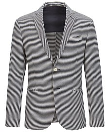 BOSS Men's Slim-Fit Striped Cotton Sport Coat