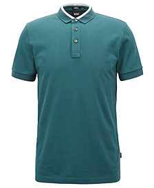 BOSS Men's Slim-Fit Cotton Piqué Colorblocked Polo Shirt