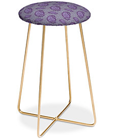 Deny Designs Caroline Okun Shanti Blooms Counter Stool