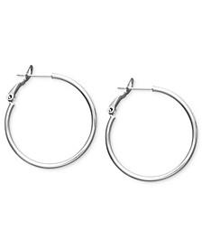 """Small Sterling Silver Hoop Earrings, 1"""""""