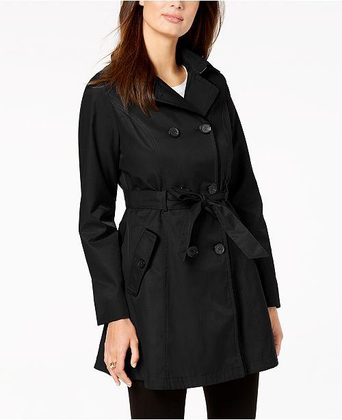 ganses Femme capuche Laundry By en Trench a coat Segal et Noir Shelli velours a Manteaux srthxQdC